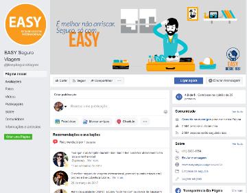 Easy (Isis) Seguro Viagem - Página do Facebook