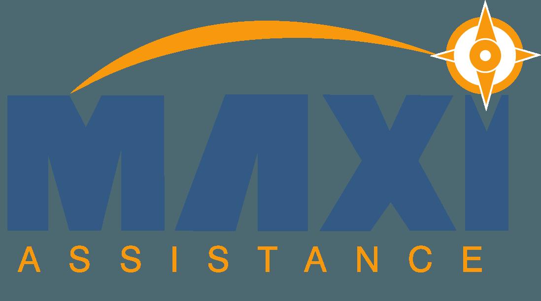 Logomarca do Maxi Assistance, o máximo em assistência de viagem